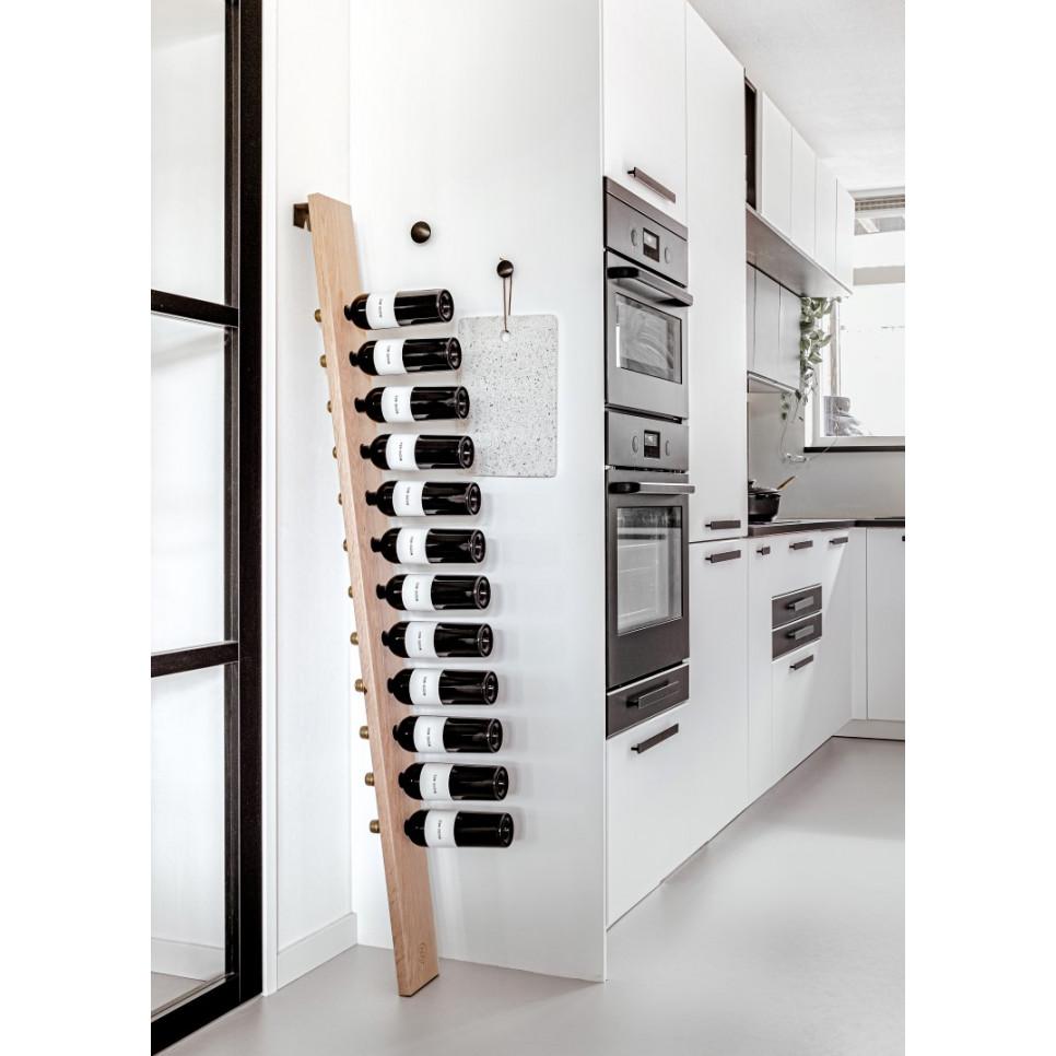 Wine Rack Industrial   Oak