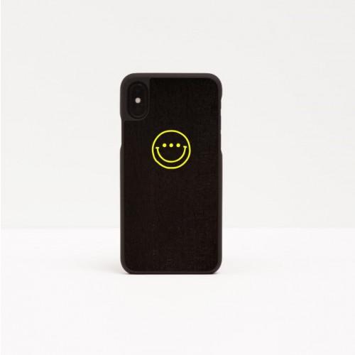 Smartphone Case Smiley   Yellow