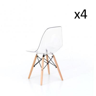 Stuhl Isotta 4er-Set   Weiß