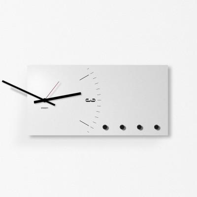 Wandorganisator / Uhr | Hellgrau