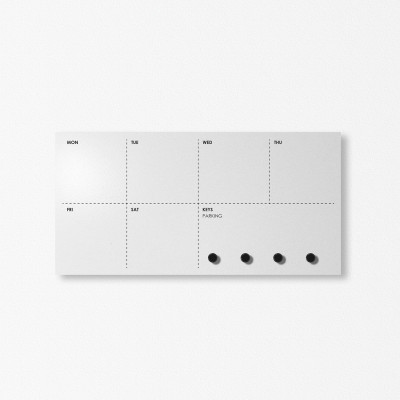 Weekly Agenda Wall Organiser | Light Grey