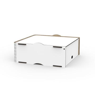 Einseitige Box Jazz 40x40x16 cm | Weiß