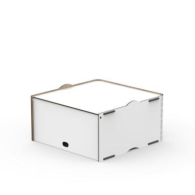 Einseitige Box Jazz 40x40x21 cm | Weiß