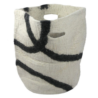 Basket Jamma   White/Black