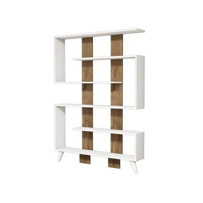 Bücherregal Jane | Weiß-Walnuss