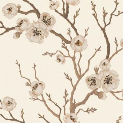 Wall Mural Japanese Floral | Cream