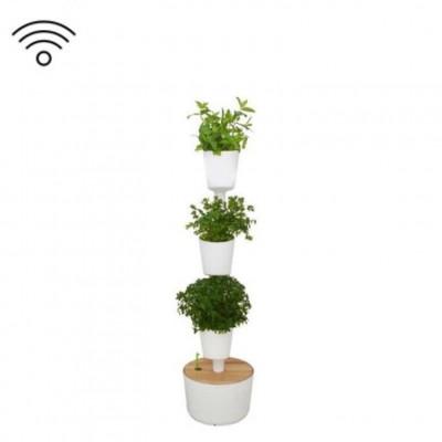 Smart & selbstbewässernd vertikale Kräuter-Pflanzgefäße | Weiß