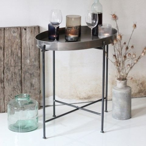 Side Table Janet   Antique Silver
