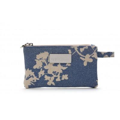 Small Make Up Bag Japan Blue Glitter