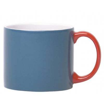 My Mug Blue, Red Handle