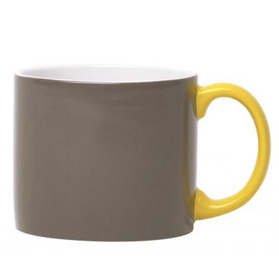 My Mug Anthracite, yellow handle