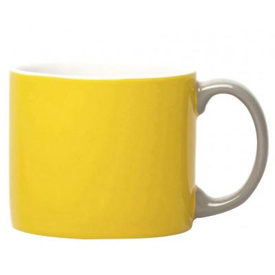 My Mug Yellow, light grey handle