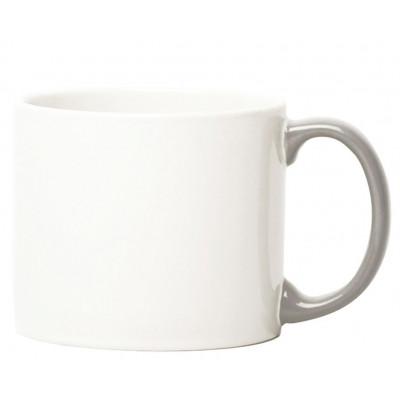 My Mug White, grey handle