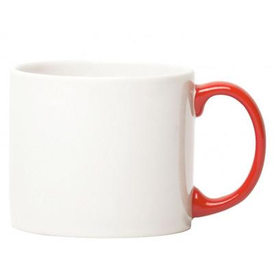 Mug White, red handle