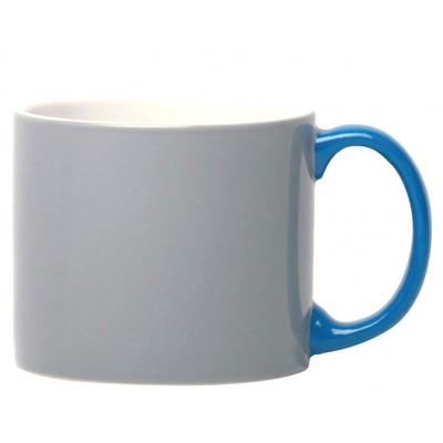 My Mug Grey, blue handle