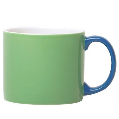 My Mug Green,blue handle