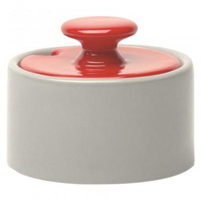 My Sugar Bowl Grey, red lid