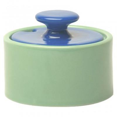 My Sugar Bowl Green, blue lid