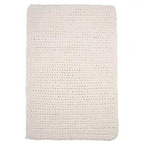 Rug Crochet 60 x 90 cm | White