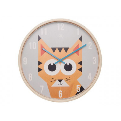 Wall Clock Geo Forest | Tiger