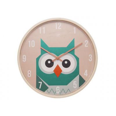 Wall Clock Geo Forest | Owl
