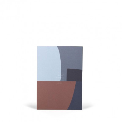 Jo Notepad With Cover Large   Midnight Shapes
