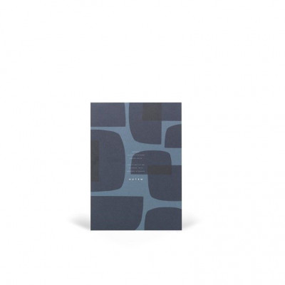 Jo Notepad With Cover   Midnight Shapes
