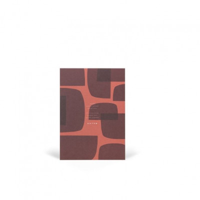 Jo Notepad With Cover   Red Shapes