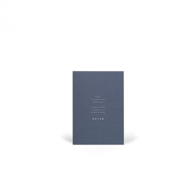 Jo Notepad With Cover   Midnight Blue