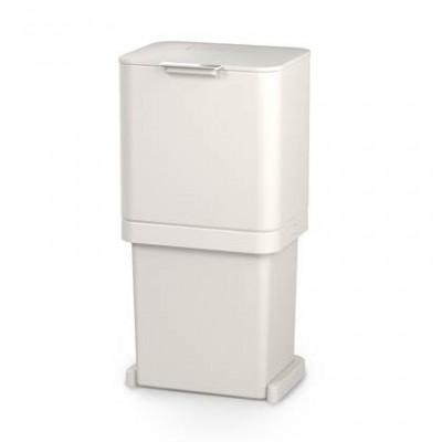 Intelligent Waste Totem Pop Bin 60 L (2x30L) | Stone