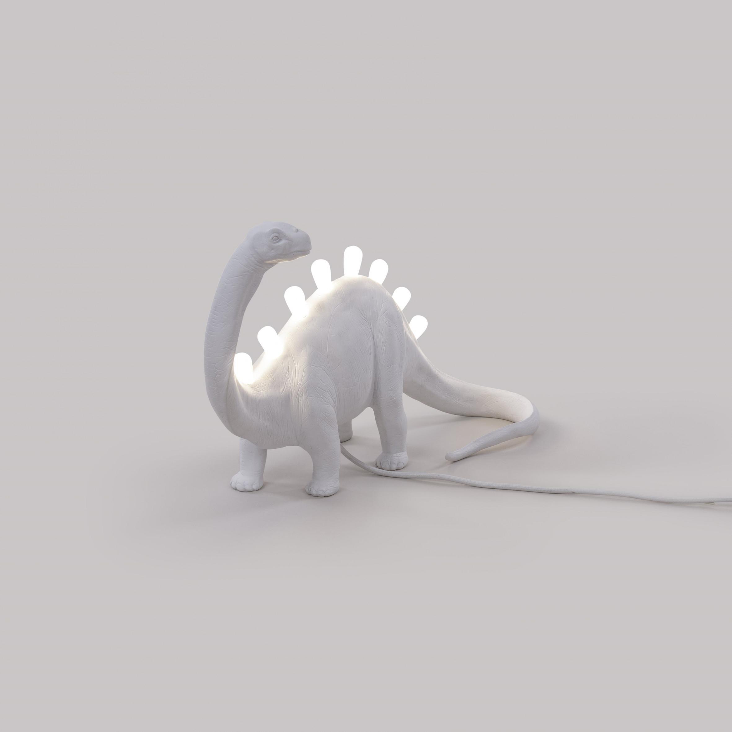 Lampe Jurassic Brontosaurus   Weiß