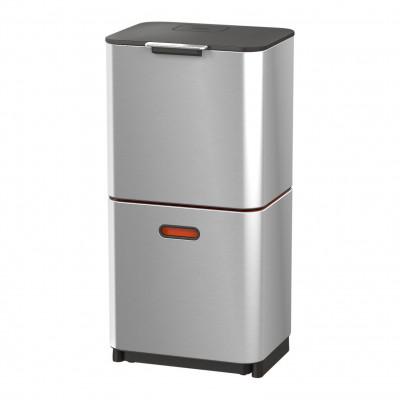 Intelligenter Abfallbehälter Totem 60L | Silber / Rot
