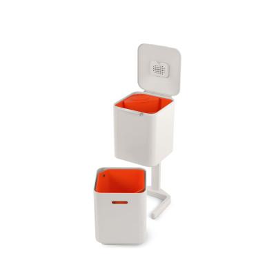 Intelligenter Abfallbehälte Totem 40L | Weiß / Rot