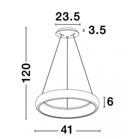Pendelleuchte Albi D 41 cm H 120   Weiß