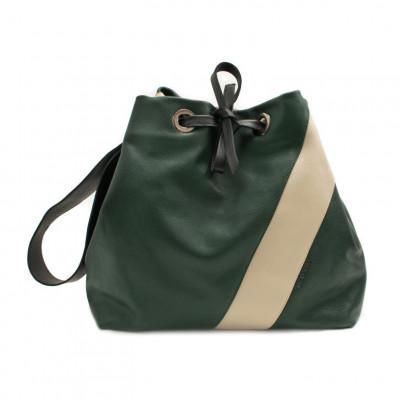 Tote Bag Julia | Bottle Green & Sand
