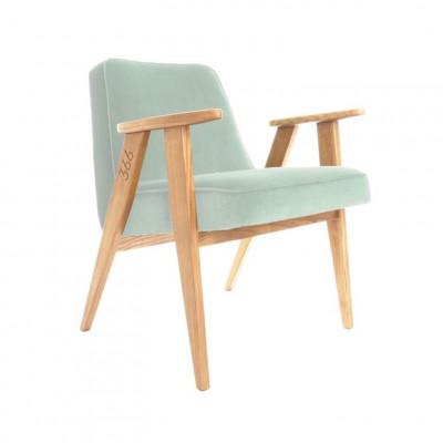 Sessel 366 Junior | Samnt Minzgrün & Dunkle Eiche