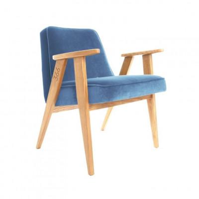Sessel 366 Junior | Samnt Marineblau & Dunkle Eiche