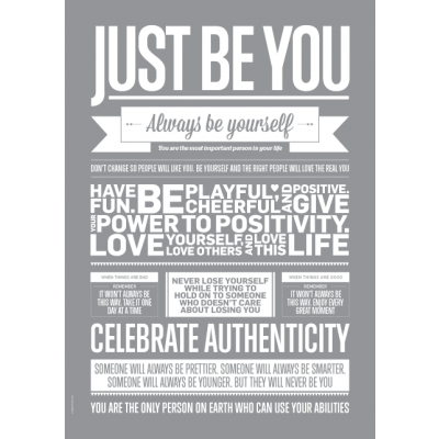 Shades of Grey Poster | Just Be You