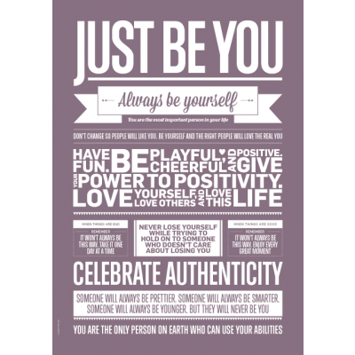 Love Typography Poster | Just Be You