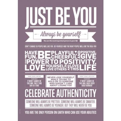 Liebe Typografie Poster | Sei einfach du