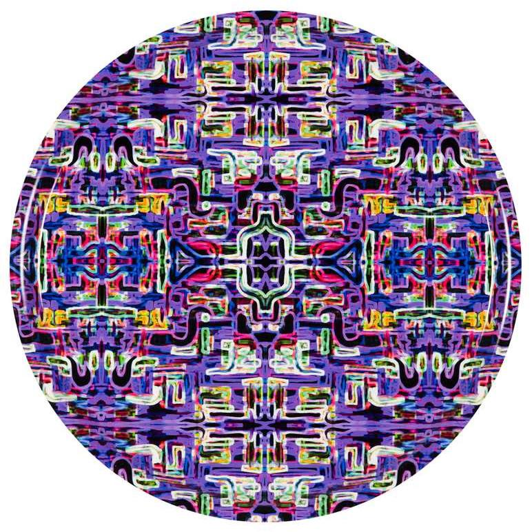 Tray Jungle Fever Carré- Purple