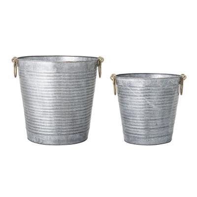 Blumentopf Metall | Grau