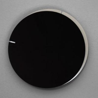 Analog Wall Clock Melancholia | Black Silver