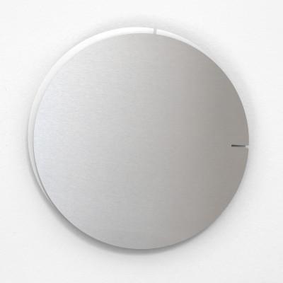 Analog Wall Clock Melancholia | Silver White