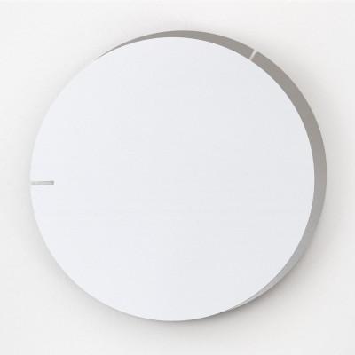 Analog Wall Clock Melancholia | White Silver