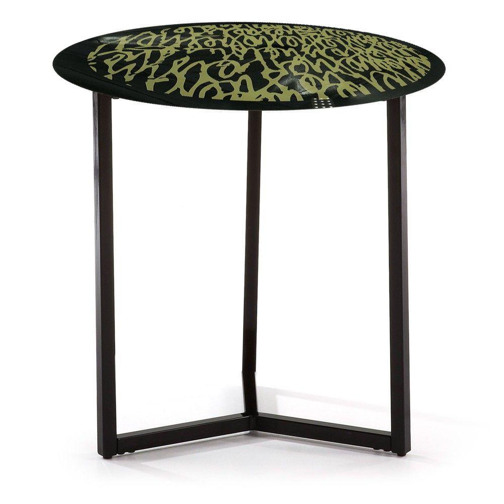 Round Coffee Table BamBam | Black + Gold