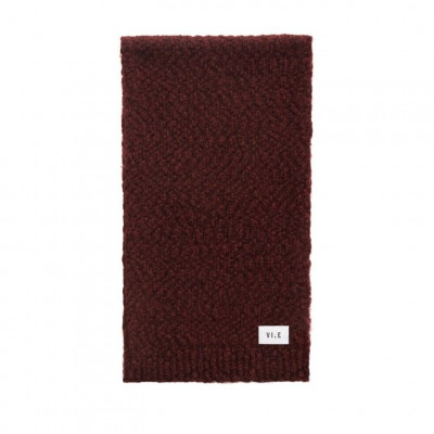 Hurricane Knitted Scarf | Red Earth
