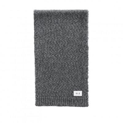 Hurricane Knitted Scarf | Stone Grey