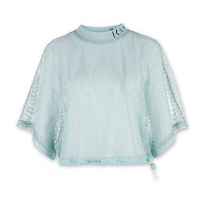 Damen-T-Shirt aus Mesh | Mintblau
