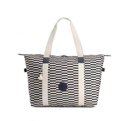 Shopper Bag Eyes Wide Open | Weiß Blau